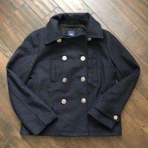 Gap Wool lined Pea Coat in Navy / Size Medium (M)